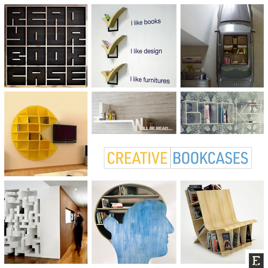 Most creative bookshelves and bookcases