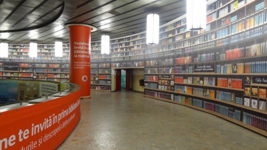 Digital library in Bucharest underground 1