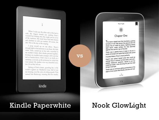 Kindle Paperwhite vs Nook GlowLight