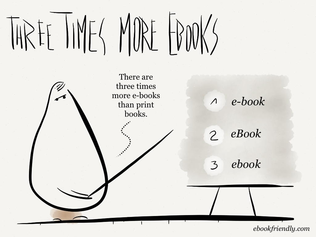 Three times more ebooks [cartoon] | Ebook Friendly