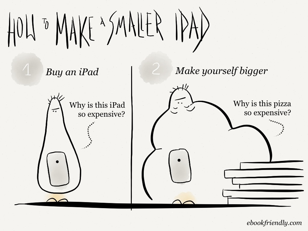How to make a smaller iPad [cartoon] | Ebook Friendly