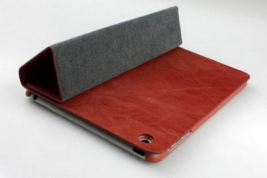 Bear Motion Brazilian Buffalo Leather Folio Case for iPad Mini