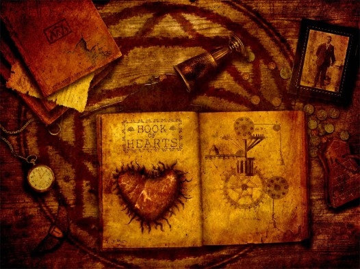 Book iPad wallpaper - Book of Hearts