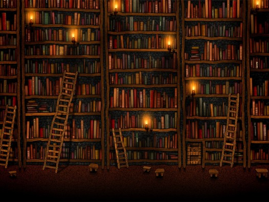Book iPad wallpaper - Library
