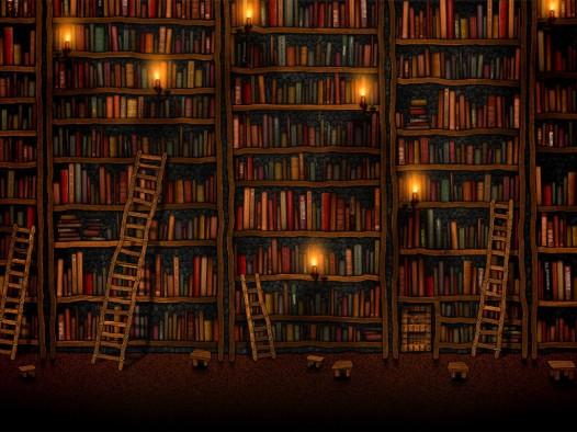 Book iPad wallpaper - Library