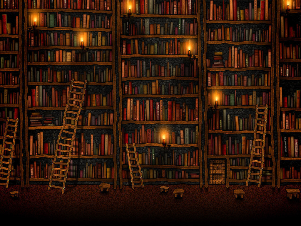 La magia en un libro Book-iPad-wallpaper-Library