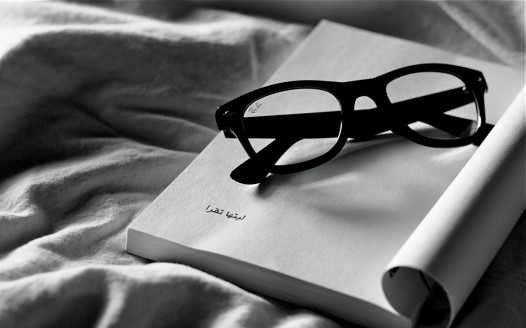 Book iPad wallpaper - Reading Ray Ban Glasses