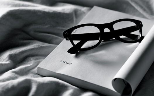 Book iPad wallpaper - Reading Ray Ban Glasses