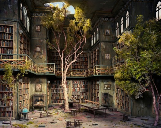 Book iPad wallpaper - The Old Library