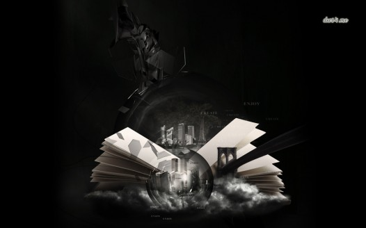 Book iPad wallpaper - The World in a Book