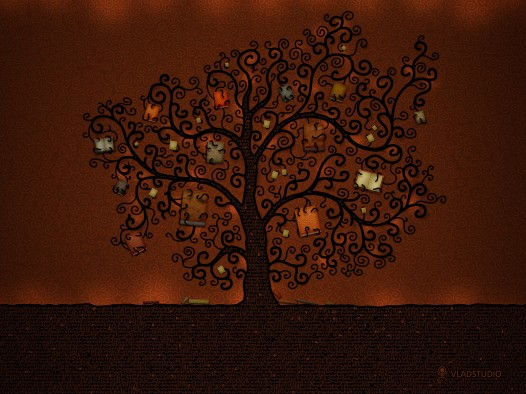 Book iPad wallpaper - Tree of Books