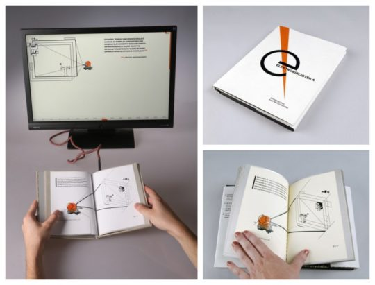 Electrolibrary by Waldek Wegrzyn is a paper book that is a computer interface