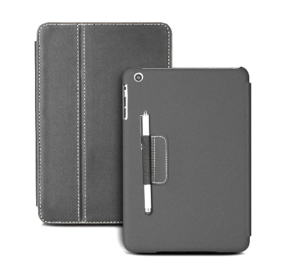 Photive iPad mini Ultra Slim Folio Case with Built in Stand and Stylus Holder