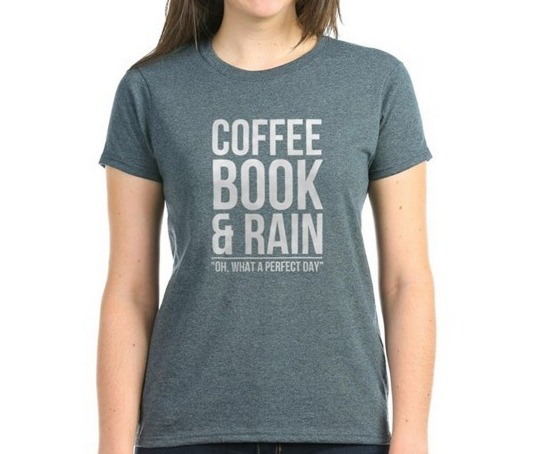 Coffee Book and Rain T-shirt