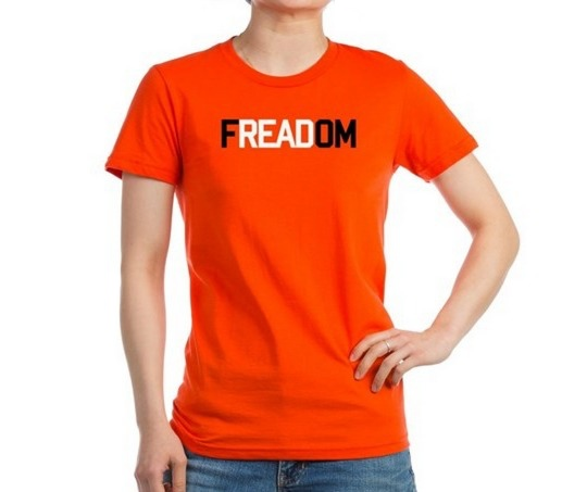 8d09a433dfad Freadom Women s Fitted T-Shirt. A popular word play