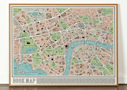 Gift ideas for ebook geeks - book and literary maps