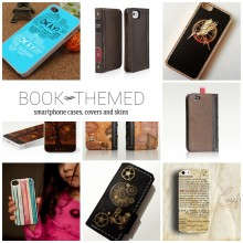 Book-themed phone cases covers and skins