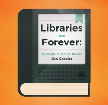 Ebook infographics - Libraries are forever