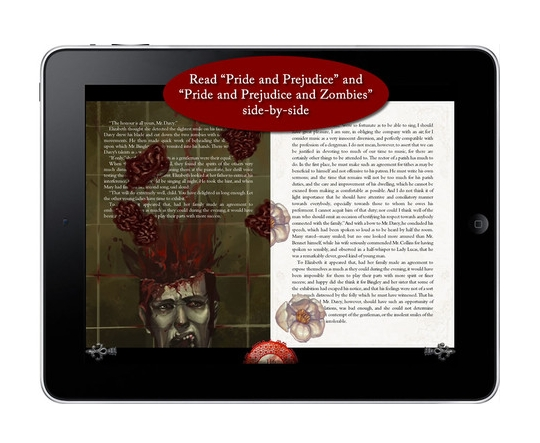 Pride and Prejudice and Zombies iPad version