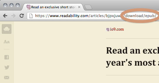 Readability alternative version to download epub file from a web page