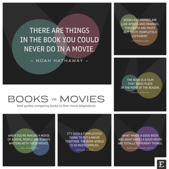 Books vs. movies - most insightful quotes comparing books with their movie adaptations