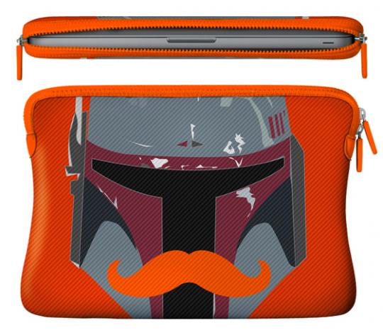 Caseable Bobafett Orange MacBook Air 13 sleeve by Aurelie Scour