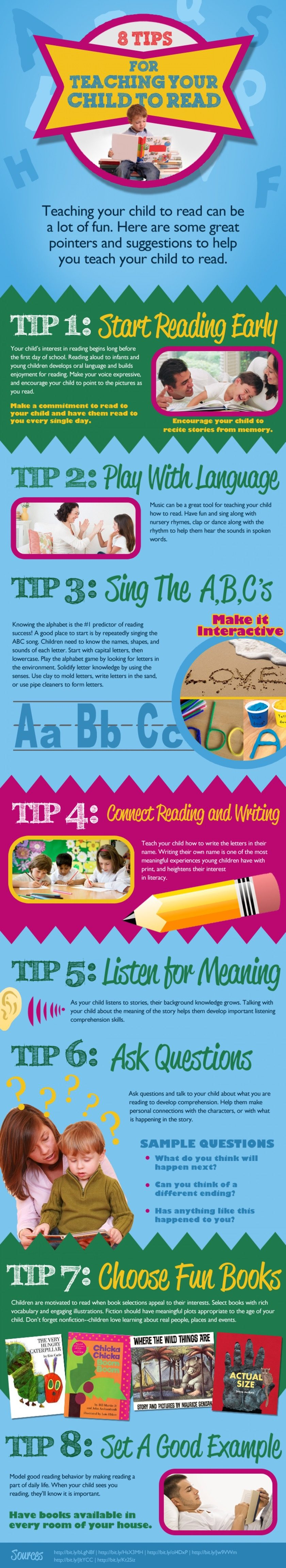 Great tips for teaching your kid to read #infographic