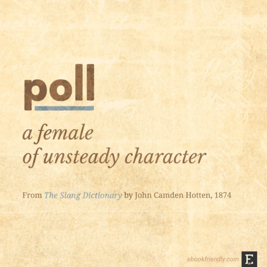 Popular contemporary terms as seen in the 19th century - poll