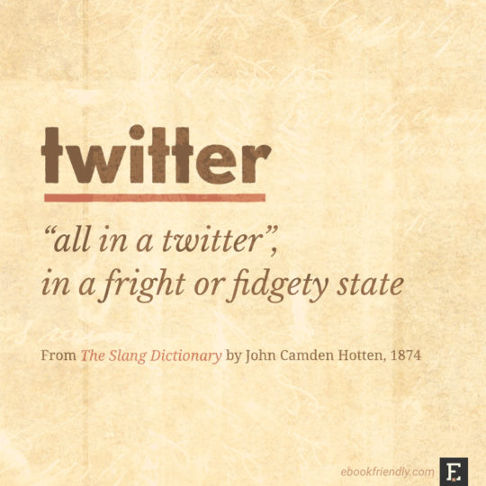 Popular contemporary terms as seen in the 19th century - twitter