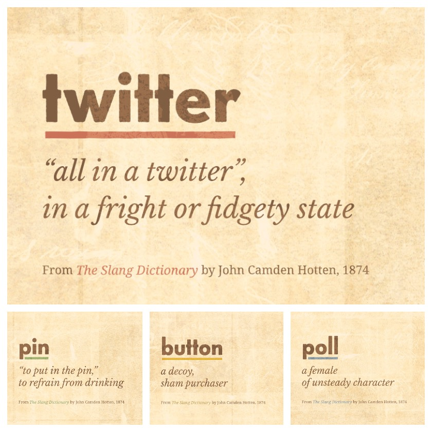 Popular words of the internet era as seen in the 19th century