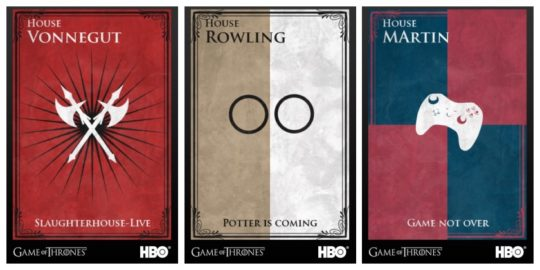 If Famous Authors Had Their Own Game Of Thrones House Sigils