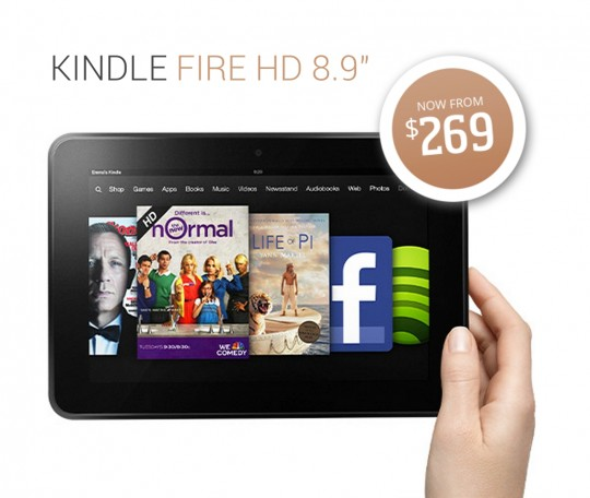 Kindle Fire HD - now available in US for $269 dollars