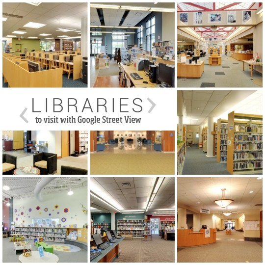 #Libraries to visit with Google Street View