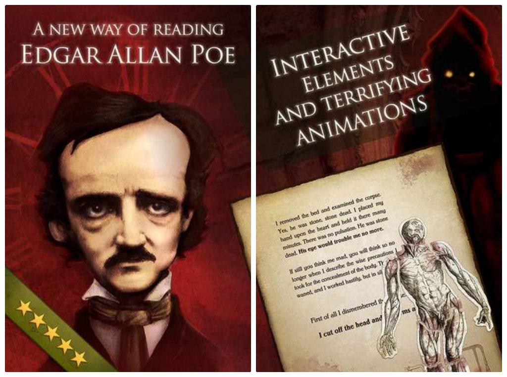iPoe - the interactive Edgar Allan Poe Collection for iOS - screenshots
