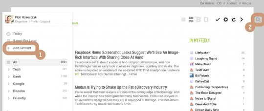 Adding content to Feedly - copy and paste RSS feed