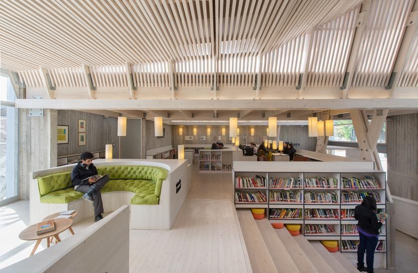 Constitución Public Library, Chile - inside