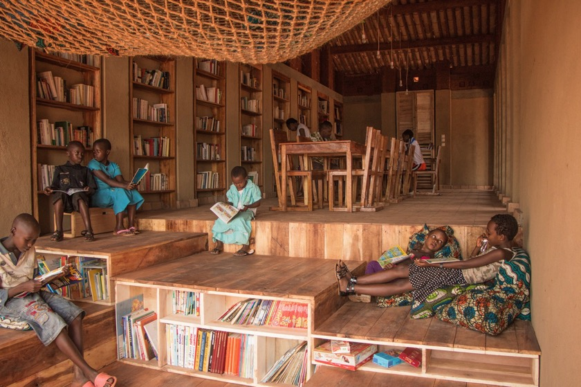 Inside the Library of Muyinga, Burundi