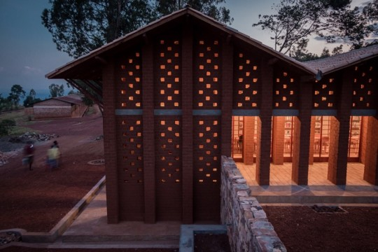 Library of Muyinga in Burundi - in the evening