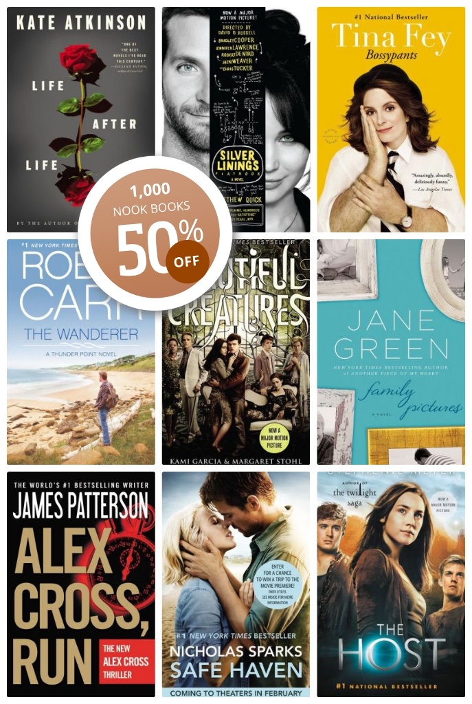 Save 50% on 1000 Nook books