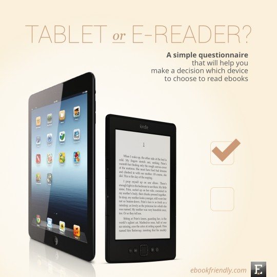 Tablet or e-reader - questionnaire