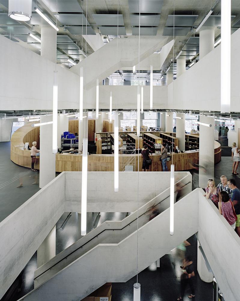 University Library Freiburg - inside