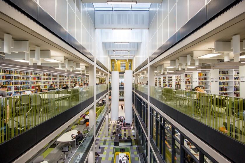 University of Birmingham's Library - the reading room