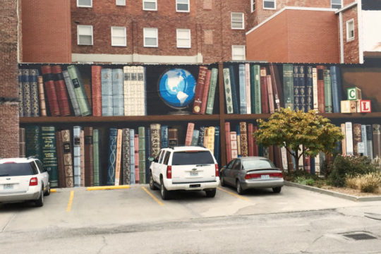 A mural by Kelly Polling on the Savannah library