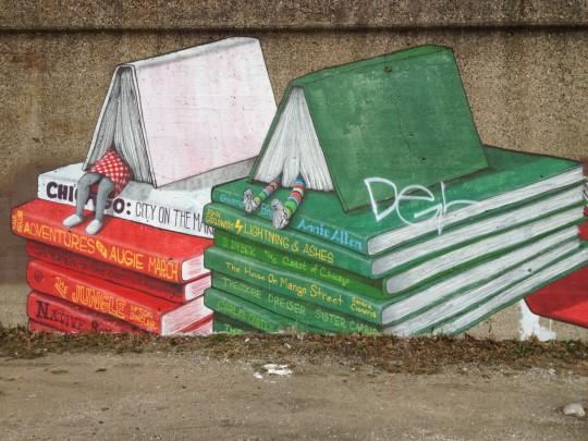 Street art - Book-themed Mural
