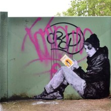 Books - street art by Levalet - picture 2