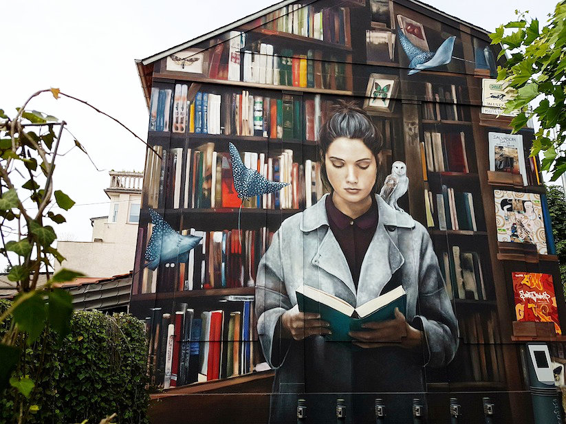 Curiosity feeds imagination - street art in Luxembourg