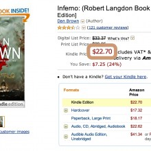 Dan Brown Inferno price in Kindle Store