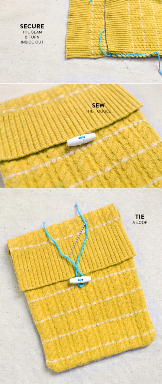 Designlovefest - DIY iPad cover from a vintage sweater - picture 3