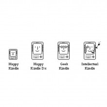 Happy Kindle icons - pixel art by Carlos Peixoto