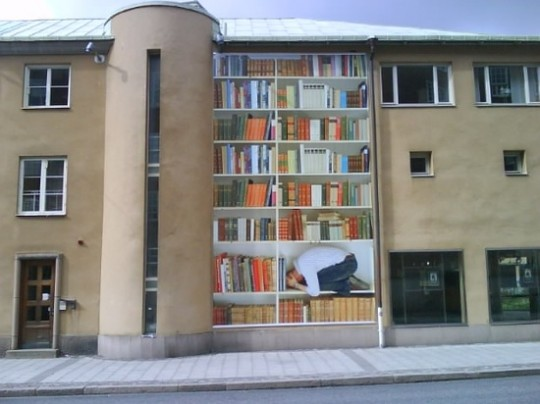 Street Art - Inside a Bookshelf